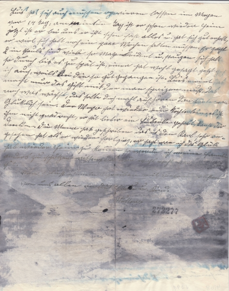 Lettre d'Italie pour l'Allemagne avec partie du texte caviardé par ?? _4002311