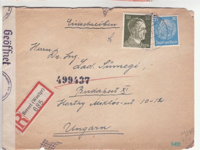 Echange de timbres postes pendant la guerre - ABP g . _5002310