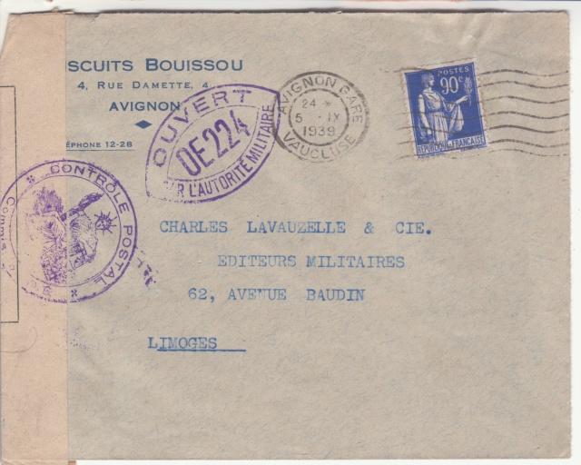 Après Colmar, c'est Avignon qui a également utilisé un papillon de fermeture de la 1° guerre mondiale. _5002610