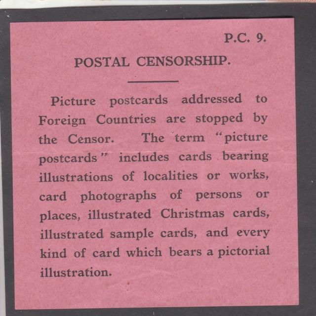 L'envoie de photographie, de cartes à vue, de cartes illustrées...est interdite. _6001610