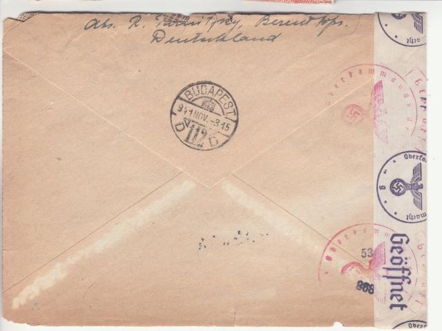 Echange de timbres postes pendant la guerre - ABP g . _6002211