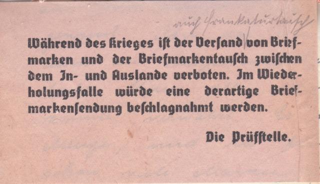 Echange de timbres postes pendant la guerre - ABP g . _7002110