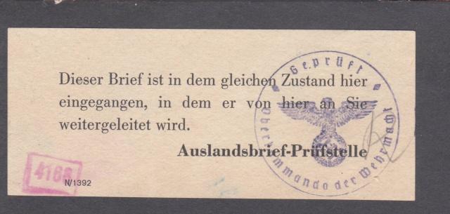 Lettre d'Italie pour l'Allemagne avec partie du texte caviardé par ?? _7002111