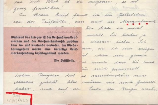 Echange de timbres postes pendant la guerre - ABP g . _9001710