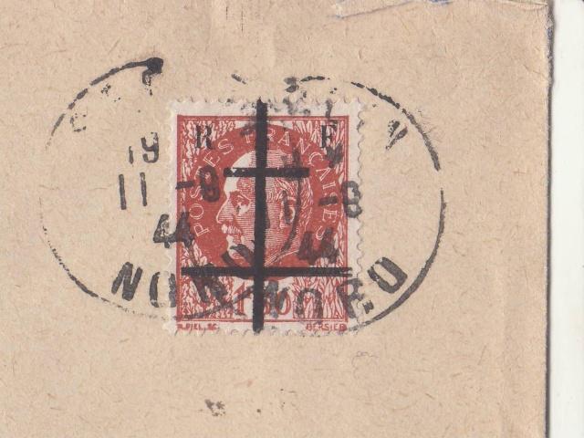Timbres de la libération de Lille (oblitérations sur lettre). _lille10