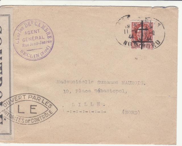 Timbres de la libération de Lille (oblitérations sur lettre). _lille11