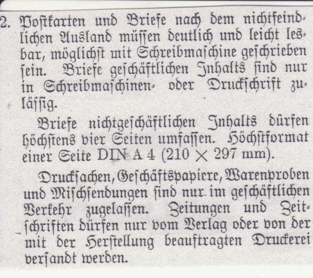 Décret sur les communications de la censure allemande du 02 Avril 1940. (00) _par-210