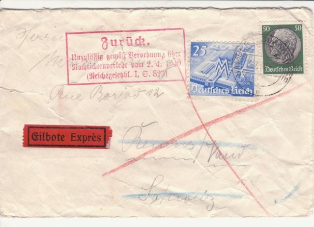 Décret sur les communications de la censure allemande du 02 Avril 1940. (00) _sto-113