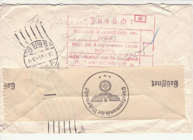 Décret sur les communications de la censure allemande du 02 Avril 1940. (00) _sto-114