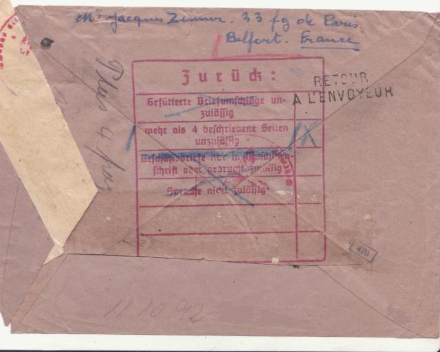 Décret sur les communications de la censure allemande du 02 Avril 1940. (00) _sto-118