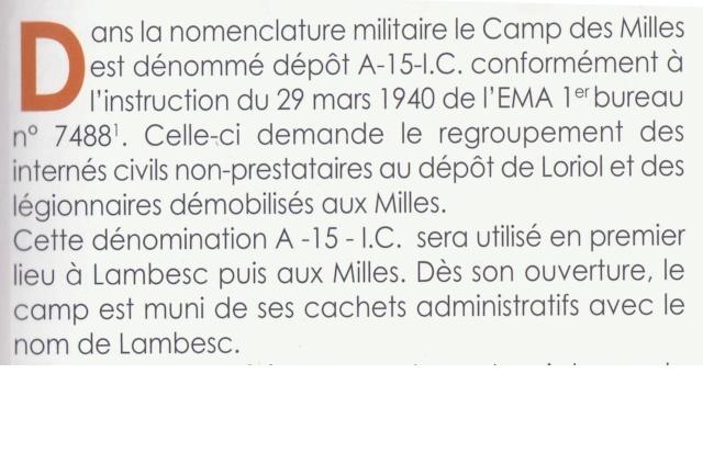 Le Camp des Milles - APPA A10