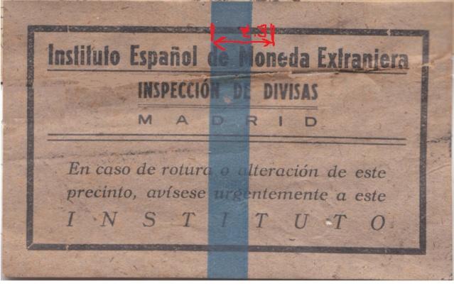 Contrôle des devises du courrier au départ d'Espagne. C10