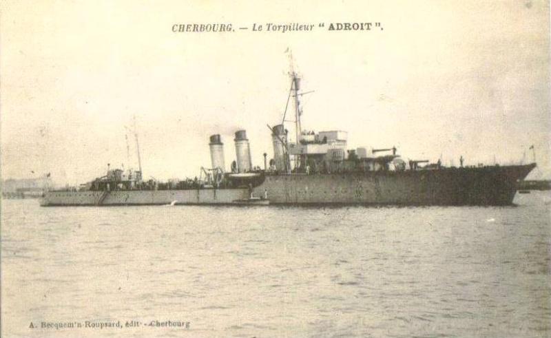 Les torpilleurs français Adroit10