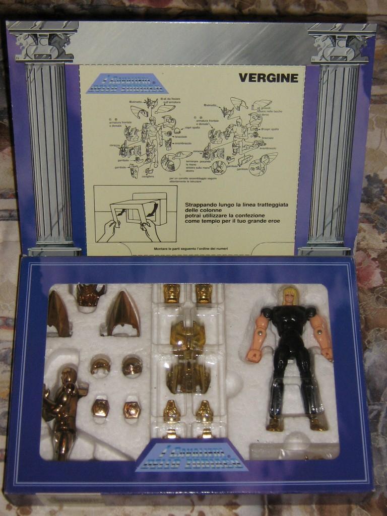 Vendo CAVALIERI DELLO ZODIACO SCATOLA TEMPIO 1989 Vergin11