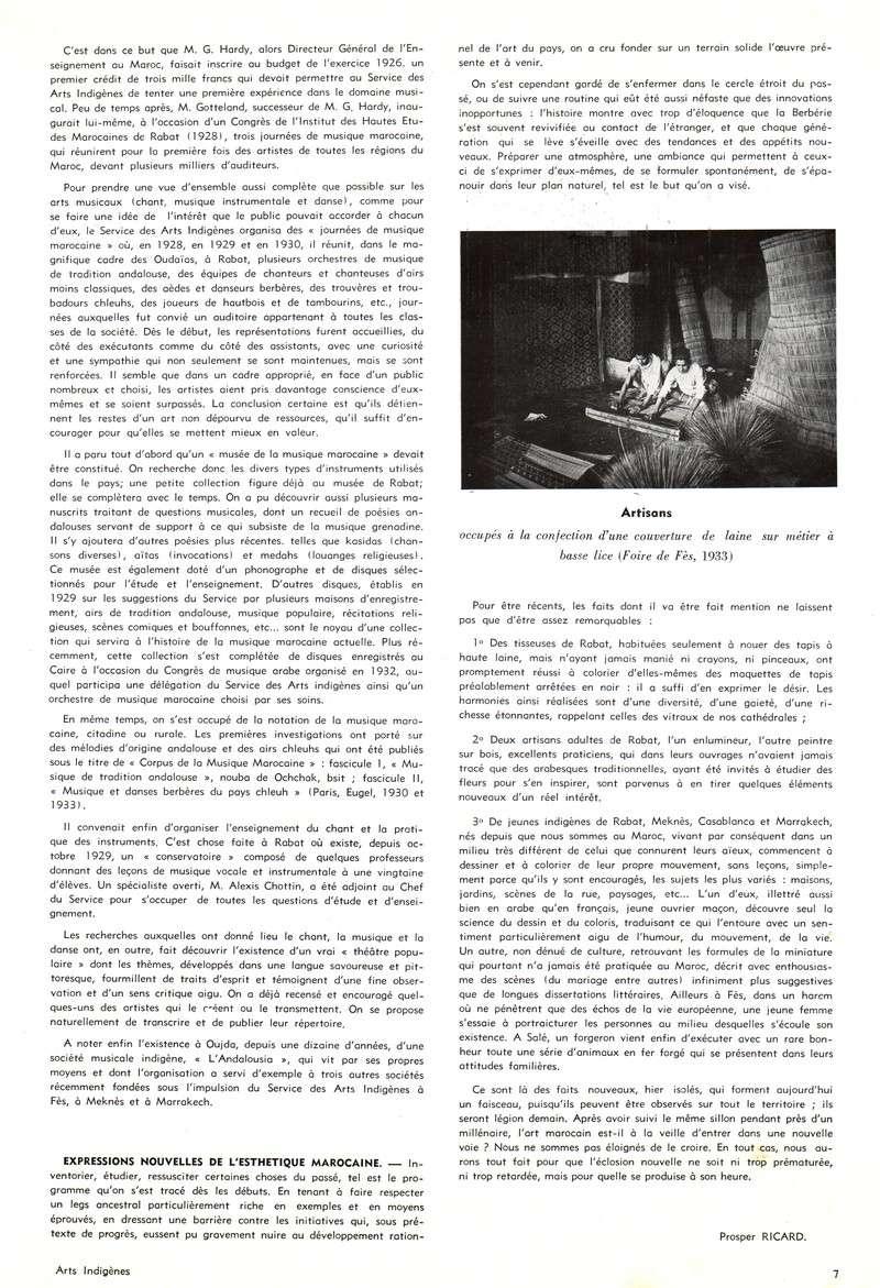 Les Arts Indigènes P711