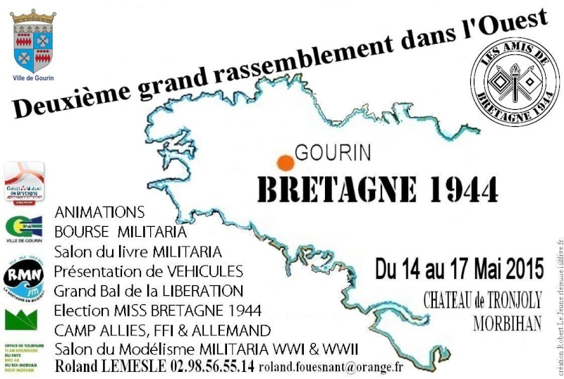 Gourin 2015 : Bretagne 1944 édition 2015 les 14,15,16&17 Mai Petite11