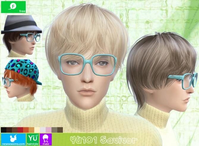 YU101 Savivor hair (Free) at Newsea Sims 4 305-6710