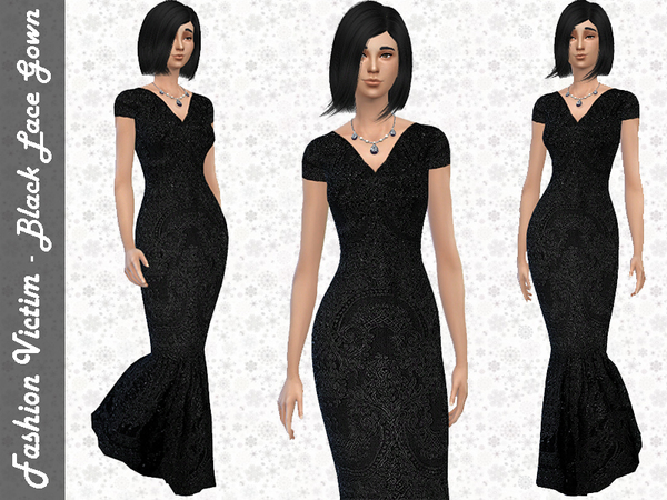 Black Lace Gown by Fashion_Victim W-600h11