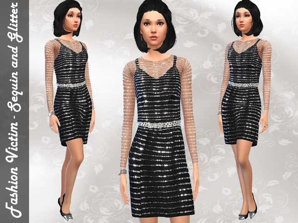 Sequined Cocktail Dress by Fashion_Victim  W-600h12