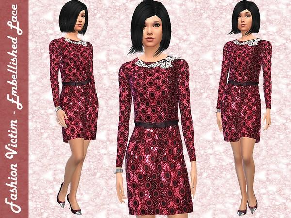 Embellished Lace Dress by Fashion_Victim W-600h13