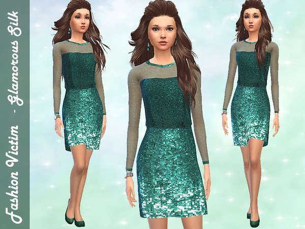 Glamorous Silk Dress by Fashion_Victim W-600h14