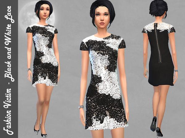 Black and White Lace Dress by Fashion_Victim  W-600h15