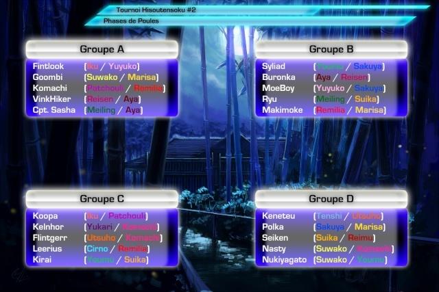 Hisoutensoku Challenge #2 Poules13