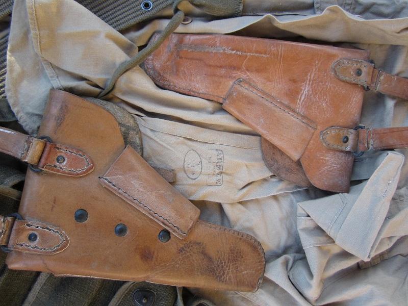 Lot années 50, ceinturons TAP, etuis PA, chemise.... - ESC 1  vendu Img_8811