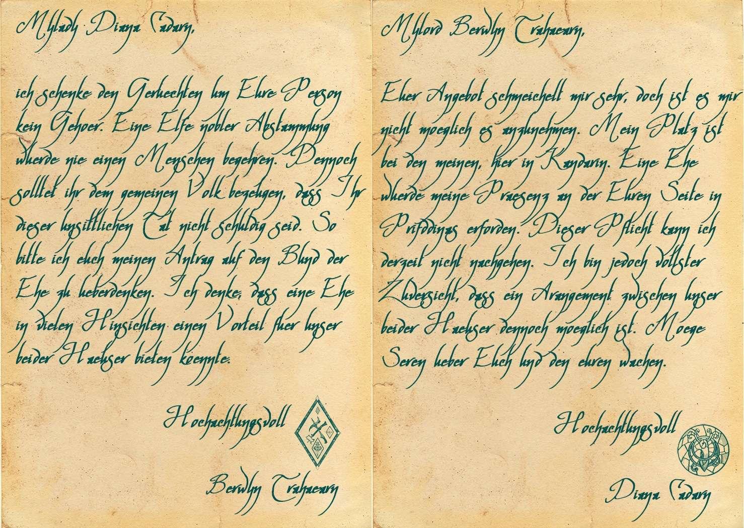 Chronik: Diana Cadarn Briefe10