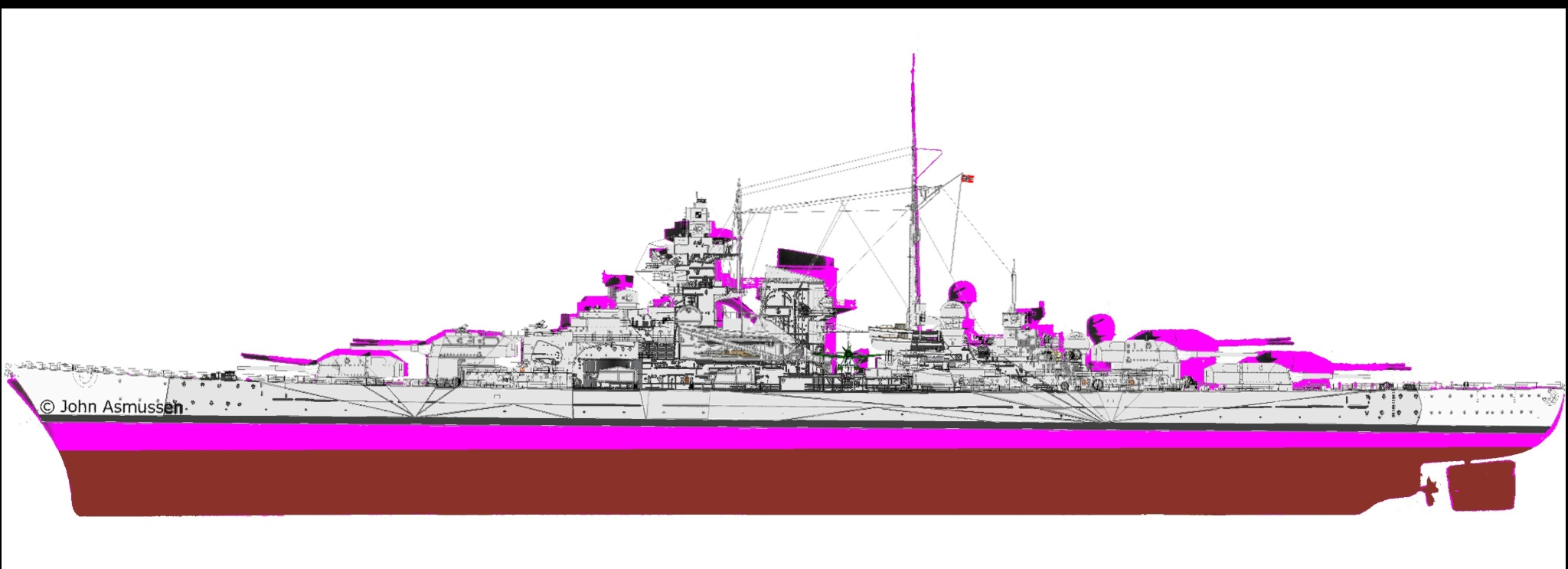 Bismarck mutant devenu Tirpitz Tirpit10