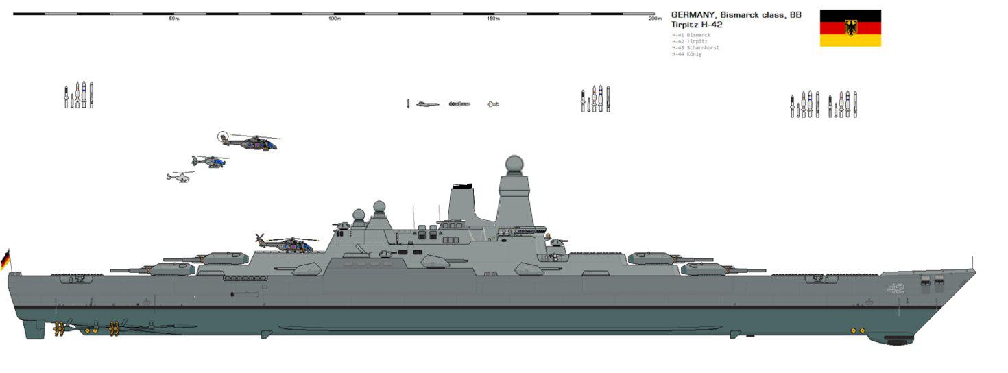 Bismarck mutant devenu Tirpitz Tirpit11