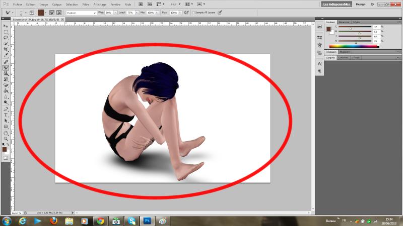 [Photoshop] Supprimer la frange d'une sélection détourée rapidement Tutode15