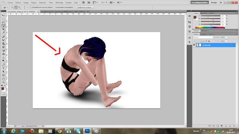 [Photoshop] Supprimer la frange d'une sélection détourée rapidement Tutode17