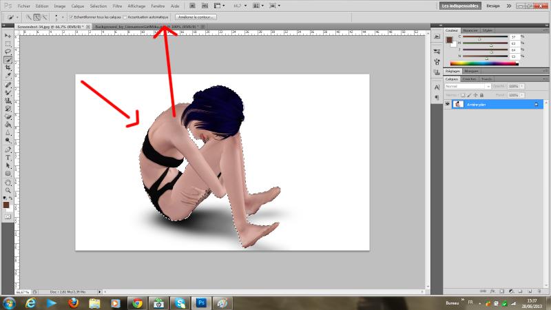 [Photoshop] Supprimer la frange d'une sélection détourée rapidement Tutode18