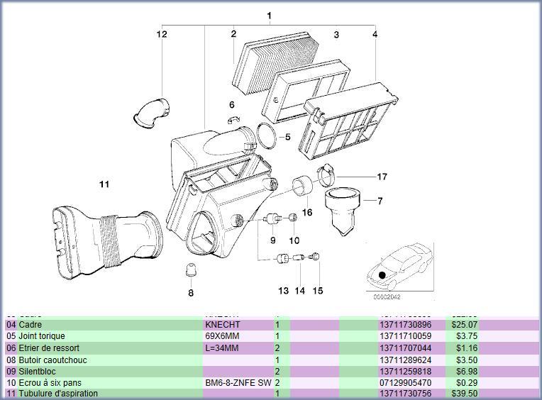 reference durite a air bmw e36 320i de 1997 Image111