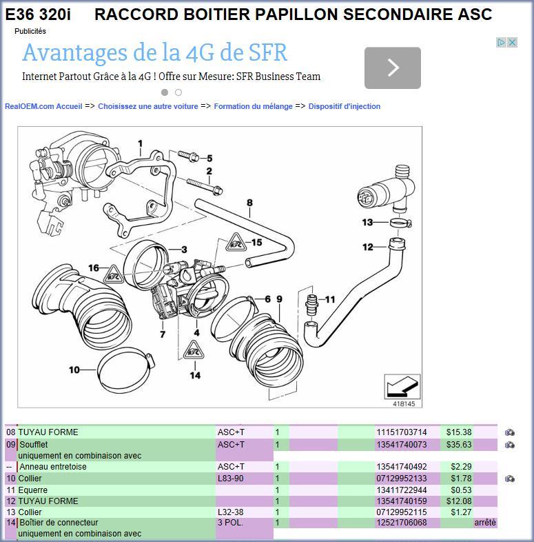 reference durite a air bmw e36 320i de 1997 Image112