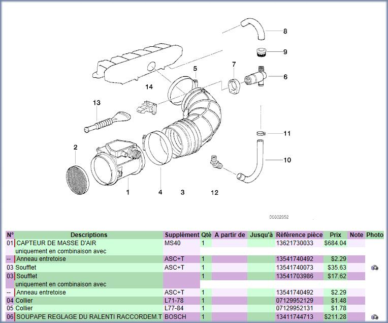 reference durite a air bmw e36 320i de 1997 Image210