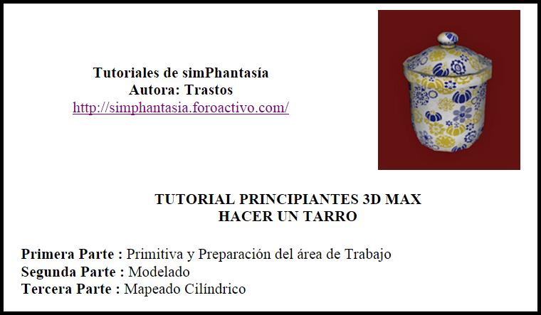 3DMAX ejercicio 2 principiantes (Tarro) Imagen12