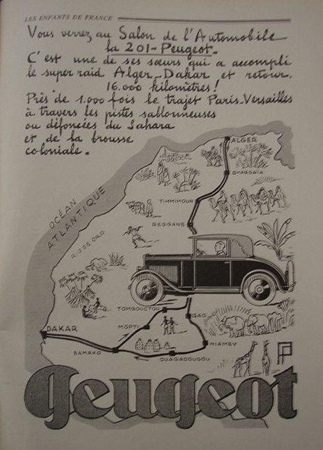 PUB Peugeot  d'époque Cabrio10