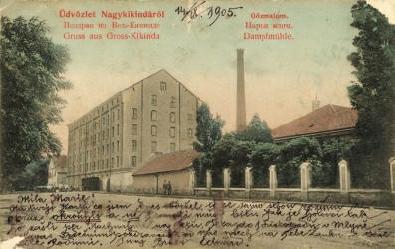"014 - Plomb de scelle ""Gross Kikindaer Dampfmühle"". Kikind10"