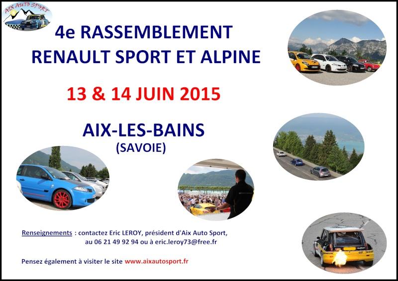 - 4e Rassemblement Renault Sport et Alpine à Aix-les-Bains - Annonc10