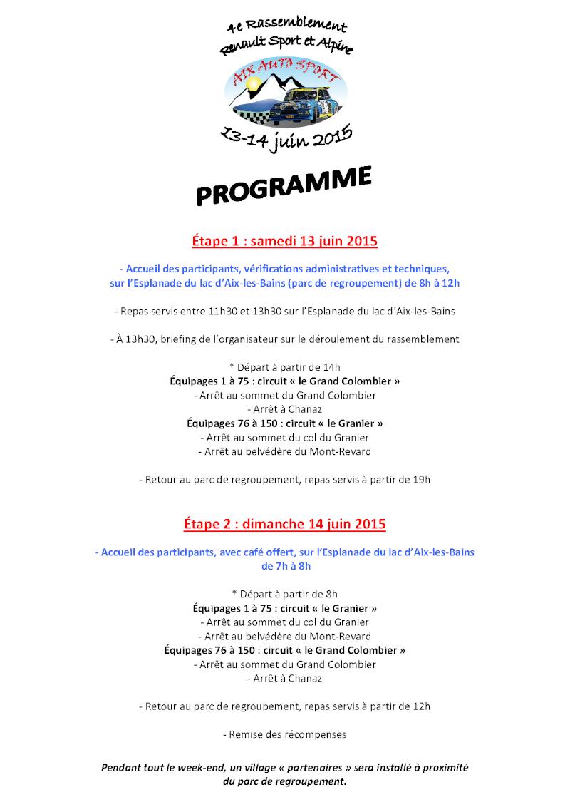 - 4e Rassemblement Renault Sport et Alpine à Aix-les-Bains - Progra10