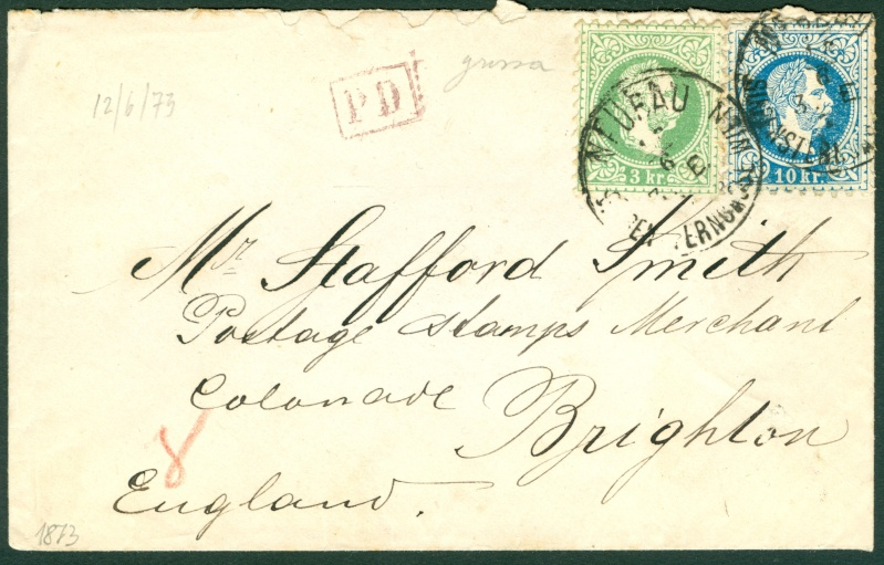 Freimarken-Ausgabe 1867 : Kopfbildnis Kaiser Franz Joseph I - Seite 9 1867_111