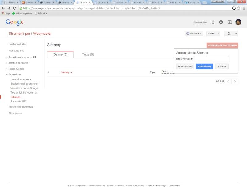 Problema site map: formato non valido Sitema11