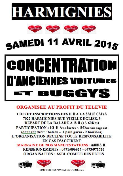 """Télévie d'Harmignies se déroulera le samedi 11 Avril 2015 """" Belgique""""  Harmig10"""