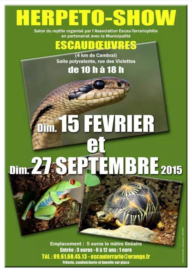 Bourse reptiles Escaudoeuvres  10407011