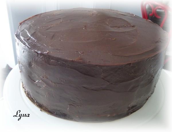 Ganache au chocolat pour gâteau Gyteau15