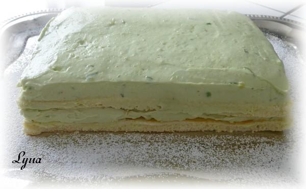 Gâteau au fromage à la lime et aux avocats Gyteau20