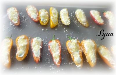 Mini poivrons gratinés, fromage de chèvre Mini_p14