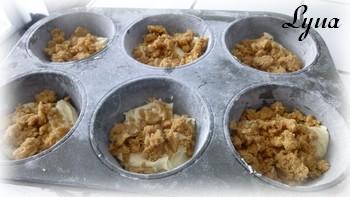 Muffins à la crème sûre et streusel Muffin10